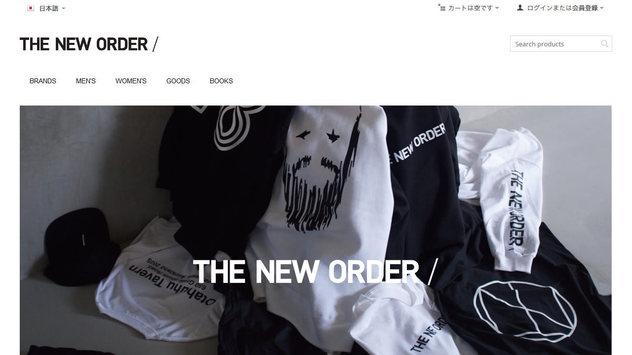 THE NEW ORDER MAGAZINE様 サイトキャプチャ